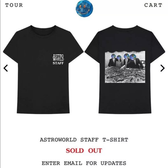 5d074b3236db Shirts | Travis Scott Astroworld Official Staff Tshirt | Poshmark